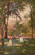 Paxton, William McGregor The Croquet Players oil painting picture wholesale
