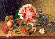 Peale, James Still Life with Watermelon oil painting artist