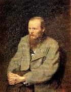 Perov, Vasily Portrait of the Writer Fyodor Dostoyevsky oil painting picture wholesale