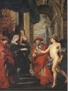Peter Paul Rubens The Treaty of Angouleme (mk05) oil painting picture wholesale
