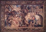 Peter Paul Rubens The Battle of the Milvian Bridge,from The Life of Constantine (mk01) oil painting picture wholesale