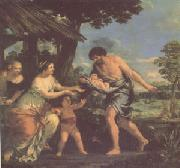 Pietro da Cortona Romulus and Remus Brought Back by Faustulus (mk05) oil painting picture wholesale