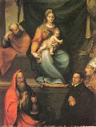 Prado, Blas del The Holy Family with Saints and the Master Alonso de Villegas oil painting artist