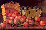 Prentice, Levi Wells Baskets of Plums on a Tabletop oil painting artist