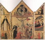 Shool of Bologna Triptych with the Crucifixion (mk05) oil painting artist