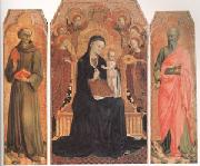 Stefano di Giovanni Sassetta Viirgin and child Enthroned with six Angels (mk05) oil painting picture wholesale