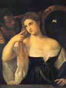 Titian A Woman at Her Toilet (mk05) oil painting picture wholesale