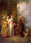 WATTEAU, Antoine The Fortune Tellers oil painting picture wholesale