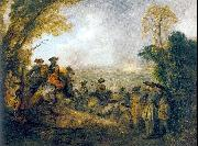 WATTEAU, Antoine On the March oil painting picture wholesale
