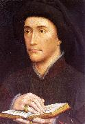 WEYDEN, Rogier van der Portrait of a Man Holding a Book oil painting picture wholesale