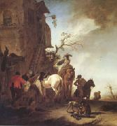 WOUWERMAN, Philips Hunters and Horsemen by the Roadside (mk05) oil painting picture wholesale