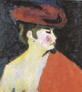 Alexei Jawlensky The Red Shawl (mk09) oil