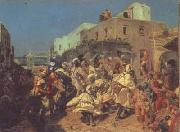 Alfred Dehodencq Blacks Dancing in Tangiers (san26) oil painting picture wholesale