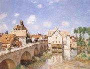 Alfred Sisley The Bridge of Moret (mk09) oil painting picture wholesale