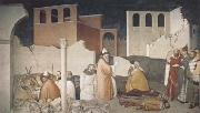 Ambrogio Lorenzetti St Sylvester Sealing thte Dragon's Mouth (mk08) oil painting