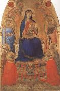 Ambrogio Lorenzetti Madonna and Child Enthroned,with Angels and Saints (mk08) oil painting picture wholesale