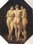 Baron Jean-Baptiste Regnault The Threrr Graces (mk05) oil