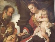 Bernardo Strozzi The Holy Family with John the Baptist (mk05) oil