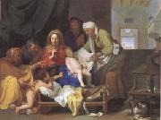 Brun, Charles Le Holy Family with the Infant Jesus Asleep (mk05) oil painting picture wholesale