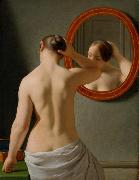 Christoffer Wilhelm Eckersberg Nude (Morning Toilette) (mk09) oil painting artist