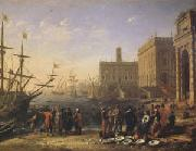 Claude Lorrain View of a Port with the Capitol (mk05) oil painting picture wholesale