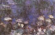 Claude Monet Waterlilies(Green Reflections) (mk09) oil painting picture wholesale