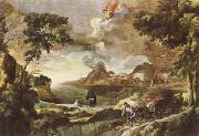 DUGHET, Gaspard Landscape with St Augustine and the Mystery of the Trinity (mk08) oil