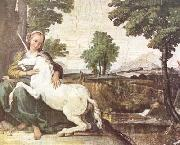 Domenichino The Maiden and the Unicorn (mk08) oil painting picture wholesale