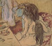 Edgar Degas Woman at Her Toilette (mk05) oil painting picture wholesale