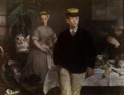 Edouard Manet Luncheon in the Studio (mk09) oil painting picture wholesale