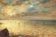 Eugene Delacroix The Sea at Dieppe (mk05) oil painting picture wholesale