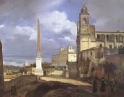 Francois-Marius Granet The Church of Trinita dei Monti in Rome (mk05) oil painting picture wholesale