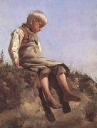 Franz von Lenbach Young boy in the Sun (mk09) oil painting artist