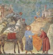 GIOTTO di Bondone St Francis Giving his Cloak to a Poor Man (mk08) oil painting picture wholesale