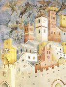 GIOTTO di Bondone The Devils Cast out of Arezzo (mk08) oil