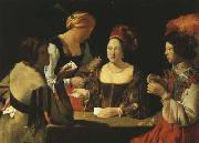 Georges de La Tour The Card-Sharp with the Ace of Spades (mk08) oil painting picture wholesale