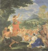 Giovanni Battista Gaulli Called Baccicio St John the Baptist Preaching (mk05) oil painting picture wholesale