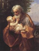Guido Reni Joseph with the christ child in His Arms (san 05) oil painting artist