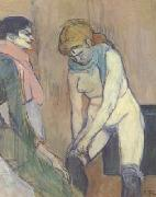 Henri de toulouse-lautrec Woman Pulling up her stocking (san22) oil painting artist