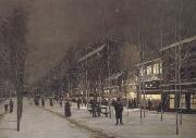 Hippolyte camille delpy Boulevard Barbes-Roche-chouart in de winter (san24) oil painting picture wholesale