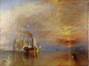 J.M.W. Turner The  Fighting Temeraire Tugged to het last berth to be Broken Up (mk09) oil painting artist