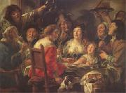 Jacob Jordaens The King Drinks Celebration of the Feast of the Epiphany (mk05) oil painting picture wholesale