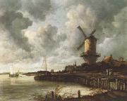 Jacob van Ruisdael The Windmill at Wijk Bij Duurstede (mk08) oil painting picture wholesale