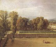 Jacques-Louis  David View of the Garden of the Luxembourg Palace (mk05) oil painting picture wholesale