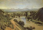 Jean Baptiste Camille  Corot The Bridge at Narni A study (mk05) oil painting artist