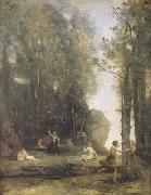 Jean Baptiste Camille  Corot Idylle antique (Cache-cache) (mk11) oil painting picture wholesale