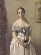 Jean Baptiste Camille  Corot The Bride (mk05) oil painting picture wholesale