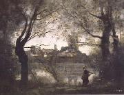 Jean Baptiste Camille  Corot Mantes (mk11) oil painting picture wholesale
