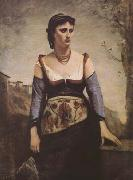 Jean Baptiste Camille  Corot Agostina (mk09) oil painting picture wholesale