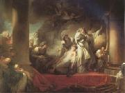 Jean Honore Fragonard The Hight Priest Coresus Sacrifices Himself to Save Callirhoe (mk05) oil painting picture wholesale